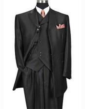 Peak Lapel Shiny Black