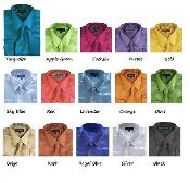 Satin Dress Shirt Set