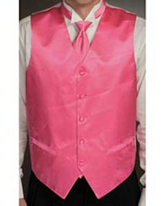 Fuchsia ~ fuschia ~ hot Pink Microfiber Dress Tuxedo Wedding Vest