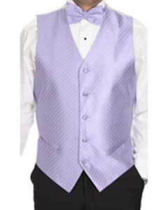 Lavender Patterned 4-piece Dress Tuxedo Wedding Vest ~ Waistcoat ~ Waist