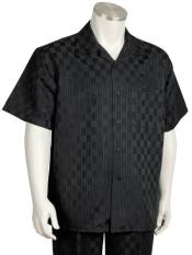 Mens Short Sleeve Classic Fit Casual Two Piece Walking Outfit For Sale
