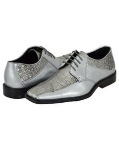 Silver Mens Dress Shoes
