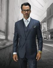 Statement Suits Clothing Confidence Plaid Grey 2 Button Single Breasted Fine