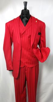 Suit Single Breasted 2 Covered Button Suit Jacket Red