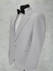 Breasted Notch Lapel White 1 Button Notch Lapel jacket 100% Microfiber