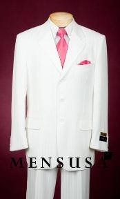 All White Suit For Men Single Breasted Available in 2 button
