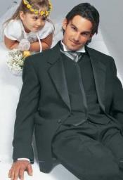 and Tall or Extra Long Tuxedo Suit / Jacket With Conte 1 Button Notch Wedding / Prom