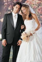 Big and Tall or Extra Long Tuxedo Suit / Jacket with Belfort 1 Button Peak Wedding /