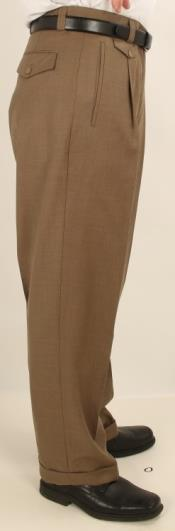 Leg Single Pleated Pants