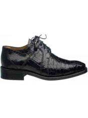 Black Mens Full World Best Alligator ~ Gator Skin Dress Shoes
