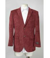 Maroon Two Button Mens Blazer  Slim Fit