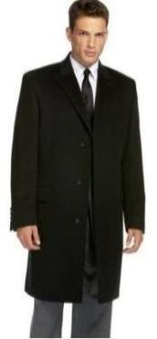 Slim overcoat that offers a sleek modern style Mens Dress Coat