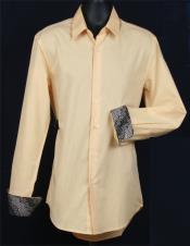 Slim Fit Corn Mens Long Sleeve Cotton/Poly Buttoned Collar Dress Shirt