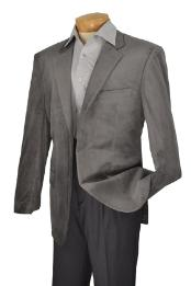 Nardoni Brand Mens 2 Button Style notch lapel Velvet Sport coat Medium Gray ~ Grey Cheap Unique