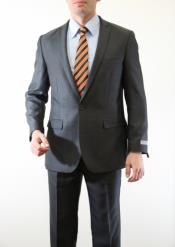 Button Peak Lapel Wool