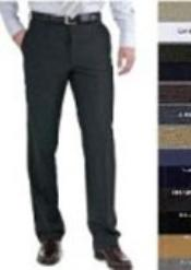 Flat Front mens tapered Mens dress pants Slim Cut Fitted 100% Wool Slacks unhemmed unfinished bottom