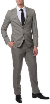 Mens Grey Glen Plaid Skinny Extra Slim Fit Suit