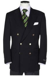 Quality Solid Black Double Breasted Suit Blazer With Best Cut & Fabric