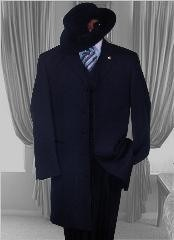Mens Solid NAVY SUIT