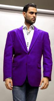 Velvet Blazer - Mens Velvet Jacket Cheap Priced Online Purple Super 150s