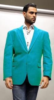 Velvet Blazer - Mens Velvet Jacket Cheap Priced Online turquoise ~ Light