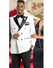 Double Breasted Suits Jacket Blazer / Sportcoat Jacket  White