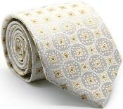 Square Pattern Ties White