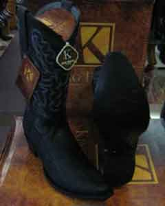 Stingray mantarraya skin King Exotic Snip Toe Western Cowboy Black Boot
