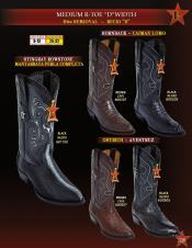 Altos Mens R Toe Genuine Stingray mantarraya skin/caiman ~ World Best Alligator ~ Gator Skin/Ostrich Cowboy Western