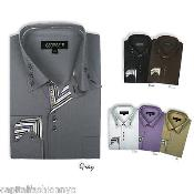 Mens Dress Shirt Multi-Color