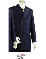 Denim Cotton Fabric Suit Style Black or Blue