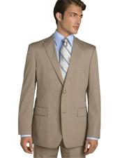 Mens Classic Business Tan ~ Beige~Sand~Mocca 2 Button Business ~ Wedding 2