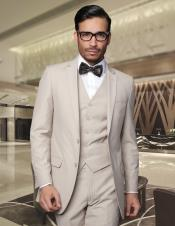 Super 150s Wool Mens Slim Fit Suits Tan ~ Beige Online