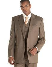 Alberto Nardoni Taupe ~ Slate ~ Brownish ~ Light Olive 3 Piece