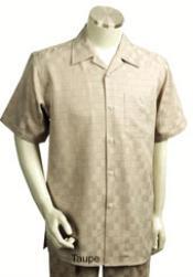 Suit Mens Short Sleeve