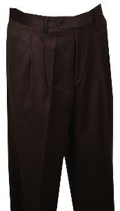 rise big leg slacks Dress Pants Pattern Wide Leg Wool Pleated baggy dress trousers unhemmed unfinished bottom