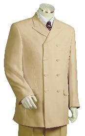 Triple Breasted 8 Button Wide Leg Taupe Fashion Suit Double breasted