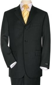 3 Buttons Mens Cheap Priced Business Suits Clearance Sale Jet Black