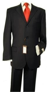 Black premier quality Online Sale Clearance Mens Super 140s Wool Man