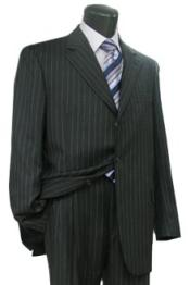 3B PIN W199 Simple Black & White Pinstripe Business