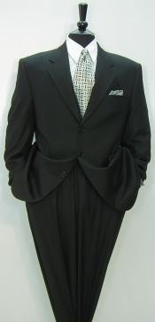 High Quality Construction Three Button Style Notch Lapel ~ premier quality italian fabric DESIGNER LIQUID BLACK