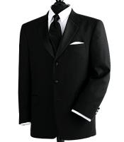 Wool Feel Light Weight Soft Poly~Rayon 3 Button Tuxedo Suit