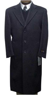 Mens Dress Coat Long Wool Winter Dress Knee length Coat 45 Inch