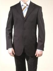 Liquid Black 3 Button Suits On Sale