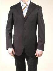 Mens Liquid Black 3 Button Suits On Sale