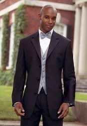 Big and Tall Sizes Satin Collar 3 Button Notch Tuxedo with Any