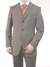 Mid Gray 3 Button Real premier quality italian fabric Super 150s Wool