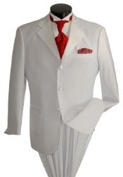 tone on tone White And White Stripe ~ Pinstripe 3 Button Tuxedo Suits Price