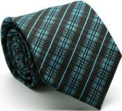 English Striped Ties Turquoise