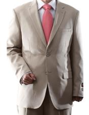 Two Button 2 Button Jacket  & Pants Tan ~ Beige